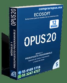 Comprar Opus 20 Módulo 1 Presupuesto Programable 12 Meses