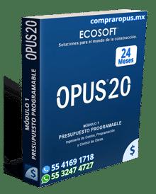 Comprar Opus 20 Módulo 1 Presupuesto Programable 24 Meses