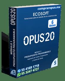 Comprar Opus 20 Módulo 1 Presupuesto Programable 6 Meses