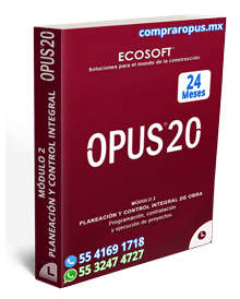 Comprar Opus Módulo 2 Control de Obra 24 Meses