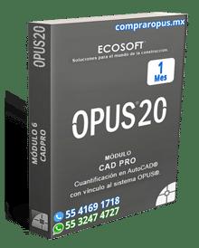 Rentar Opus por 1 mes cad pro