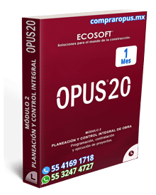 Rentar Opus 20 por 1 mes control de obra